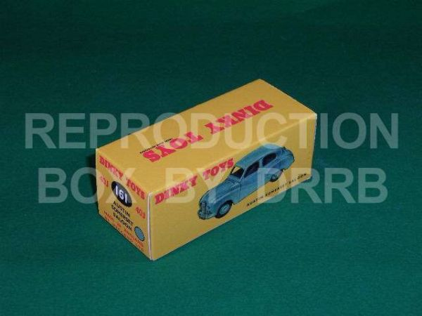 Dinky #161 Austin Somerset - Reproduction Box (  Blue )